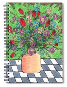 Rose And Flowers Spiral Notebook