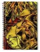 Rose And Lily And Mum With Chrome Effect Spiral Notebook