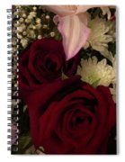 Rose And Lily Spiral Notebook