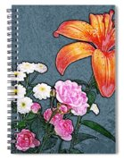Rose Baby Breath And Lilly Spiral Notebook