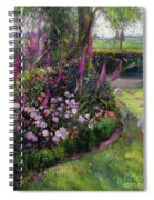 Rose Bed And Geese Spiral Notebook