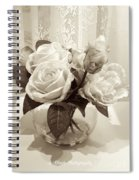 Rose Bouquet In Vinatage Spiral Notebook