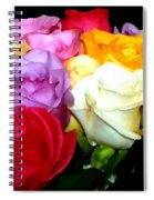 Rose Bouquet Painting Spiral Notebook