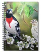 Rose Breasted Grosbeaks Spiral Notebook