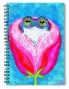 Rose City Rain Frog Spiral Notebook