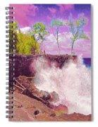 Rose Colored Splash At Mackenzie Spiral Notebook