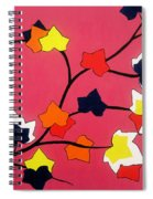 Rose Coloured Glow Spiral Notebook