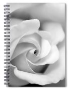 Rose Flower Black And White Monochrome Spiral Notebook