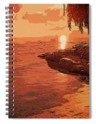 Rose From The Sea Spiral Notebook