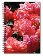 Rose Garden Art Prints Pink Red Rose Flowers Baslee Troutman Spiral Notebook