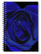 Rose Heart In Blue Velvet Spiral Notebook