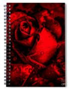 Furious Rose Magic Red Spiral Notebook