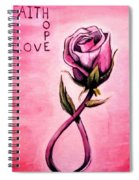 Rose Of Hope Spiral Notebook
