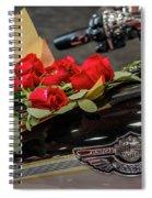 Harley Davidson And Roses Spiral Notebook