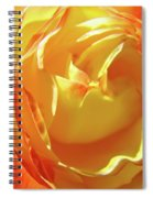 Rose Orange Yellow Roses Floral Art Print Nature Baslee Troutman Spiral Notebook