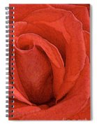 Rose-paintdaubs-2 Spiral Notebook