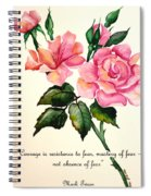 Rose Poem Spiral Notebook
