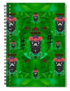 Rose Sugar Skull In Fern Garden Spiral Notebook