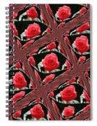 Rose Tiles Spiral Notebook