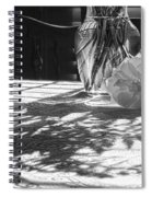 Rose Vase In Shadows Black And White Spiral Notebook