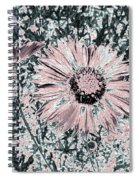 Rose Wine Daisies Spiral Notebook