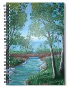 Roseanne And Dan Connor's River Bridge Spiral Notebook