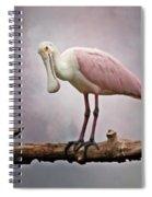 Roseate Spoonbill Costa Rica Spiral Notebook