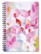 Roselique Cubes Spiral Notebook