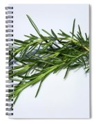Rosemary Isolated On White Spiral Notebook