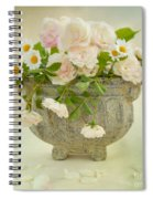 Roses And Daisys Spiral Notebook