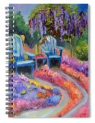 Roses And Fine Wine Spiral Notebook