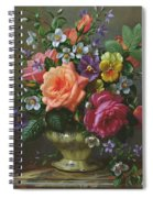 Roses And Pansies Spiral Notebook
