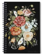 Roses And Poppies Bouquet Spiral Notebook