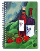Roses And Wine Spiral Notebook