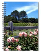 Roses At Rusack Vineyards Spiral Notebook