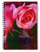 Roses Beautiful Pink Vegged Out Spiral Notebook