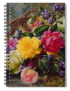 Roses By A Pond On A Grassy Bank  Spiral Notebook