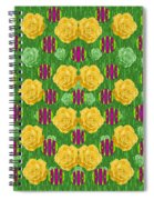 Roses Dancing On A Tulip Field Of Festive Colors Spiral Notebook