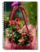 Roses Gift Bag Spiral Notebook