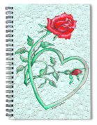 Roses Hearts And Lace Flowers Design  Spiral Notebook