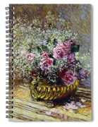 Roses In A Copper Vase Spiral Notebook
