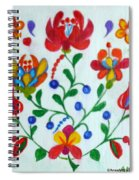 Roses In The Folk Style Spiral Notebook