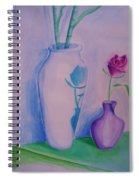 Roses  In Vase Spiral Notebook