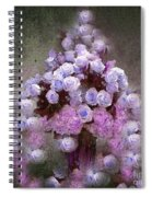 Roses Lilac And Shabby Pink Spiral Notebook