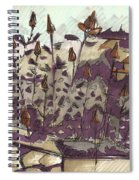 Roses On Hill Spiral Notebook