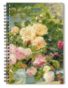 Roses On The Bench  Spiral Notebook
