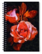 Roses Painted And Drawn Spiral Notebook