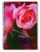 Roses Silked Pink Vegged Out Spiral Notebook