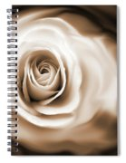 Rose's Whisper Sepia Spiral Notebook
