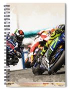 Rossi Leading The Pack Spiral Notebook